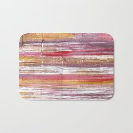 Lavender blush abstract watercolor Bath Mat