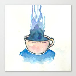 Space, tea, ocean Canvas Print