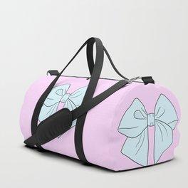 Alice Blue Vector Bow Duffle Bag