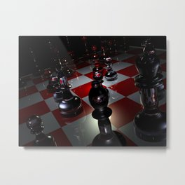 chess 3D Metal Print