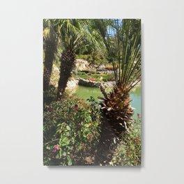 Palms at the tea garden Metal Print