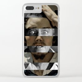 "Gustave Courbet ""The Desperate Man"" Self Portrait & James Stewart in Vertigo Clear iPhone Case"