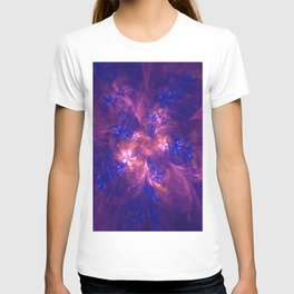 Abstract Blue And Purple Shape T-shirt
