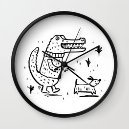 Croc Walk Wall Clock
