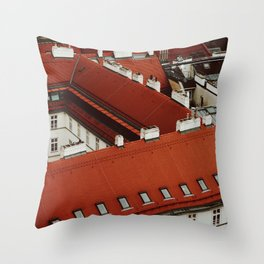 Vienna Rooftops Throw Pillow