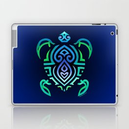 Tribal Turtle Ombre Background Laptop & iPad Skin