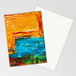 Colorfol paintin background Stationery Cards