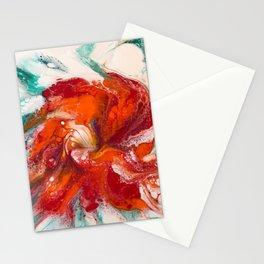 Orange Flower Craze Stationery Cards