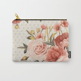 Blooms and Dots Carry-All Pouch