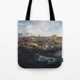 Toledo at sunset Tote Bag