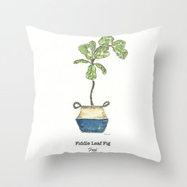 Fiddle Leaf Fig Throw Pillow