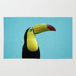 Toucan Bird - Blue Rug