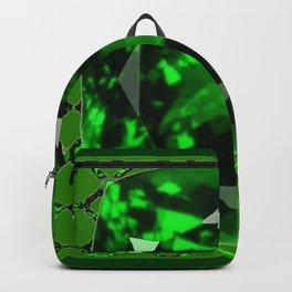 EMERALD GREEN MAY GEM BIRTHSTONE MODERN ART DESIGN Backpack