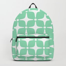 Mid Century Modern Star Pattern Mint Green 2 Backpack