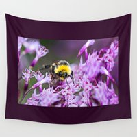 bee Wall Tapestries featuring Bee by Dora Birgis