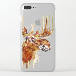 Moose Head Clear iPhone Case