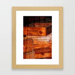 Wine crates Framed Art Print