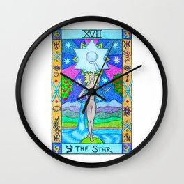 The Star - Tarot Wall Clock
