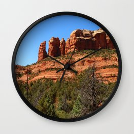 Red Sandstone Rockformation Wall Clock