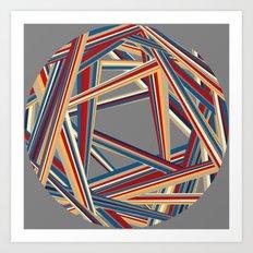 Bars and Stripes Art Print