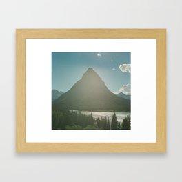 Mt. Grinnell Framed Art Print