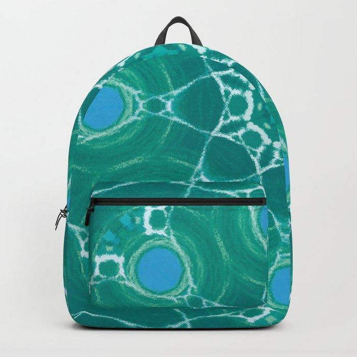 Cyan Star Mandala Backpack