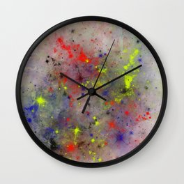 Primary Space Wall Clock