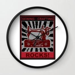 Sewing Crafting ROCKS! Wall Clock