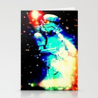 storm trooper Stationery Cards featuring STORM TROOPER by shannon's art space