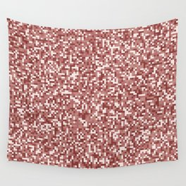Pixel Hash / Digital Mince / Cubistic Hamburger Meat Wall Tapestry