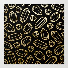 Black & Gold Crystal Pattern Canvas Print