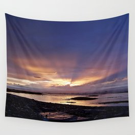 Beams of Light across the Sky Wall Tapestry