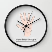 naked Wall Clocks featuring Naked by Digital Sketch
