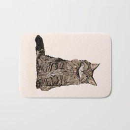Maine Coon sitting cat portrait cute cat lady gift idea for cat owner cat lover animal pet friendly  Bath Mat