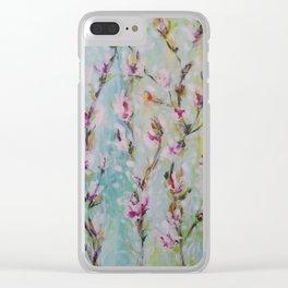 Magnolia2 Clear iPhone Case