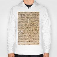egypt Hoodies featuring Egypt Hieroglyphs by Manuela Mishkova
