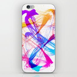 Vibrant and Expressive Multicolor Brushstrokes iPhone Skin