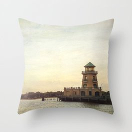 Biloxi Lighthouses Throw Pillow