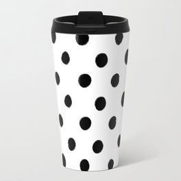 Modern Handpainted Abstract Polka Dot Pattern Travel Mug