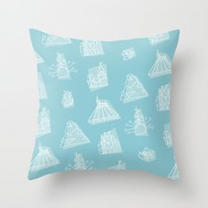Icons East Throw Pillow