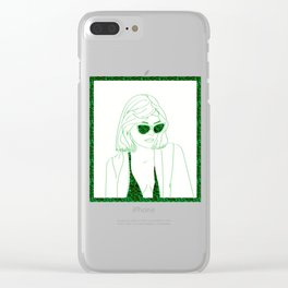 Millennial Pinup Girl Clear iPhone Case