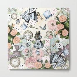 Alice In Wonderland Collage II Metal Print