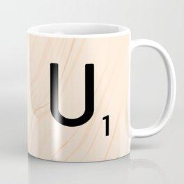 Scrabble Letter U - Large Scrabble Tiles Coffee Mug