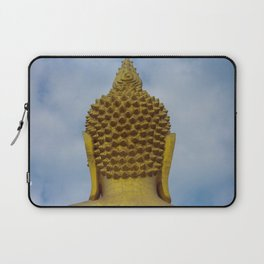 Big Golden Buddha on the Blue Sky Laptop Sleeve