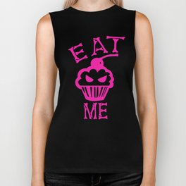 Eat Me (Magenta Version) Biker Tank