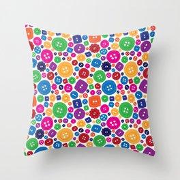 Buttons everywhere Throw Pillow