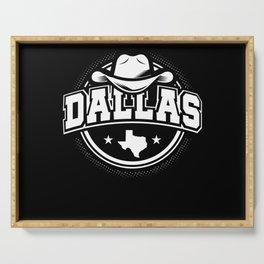 Dallas Texas Serving Tray