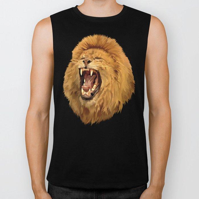 Lion Roar iPhone 4 4s 5 5c 6, pillow case, mugs and tshirt Biker Tank
