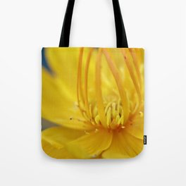 Yellow flower blue sky Tote Bag