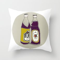 daily foods: beer Throw Pillow